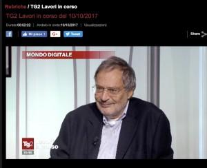 Francesco Varanini a TG2 Lavori in corso