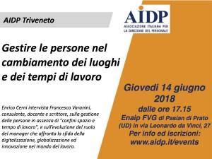 Locandina AIDP incontro 14 giugno 2018